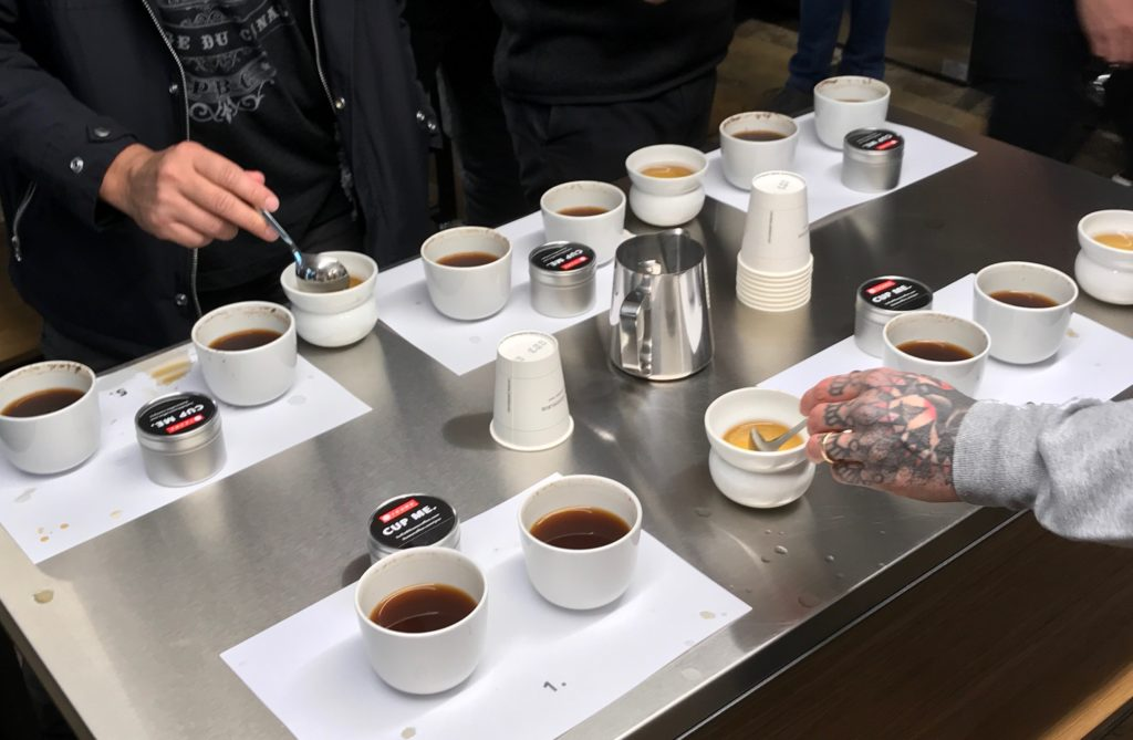 Cupping in Oslo at Tim Wendleboe roastery